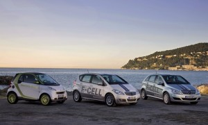 Mercedes-Benz A-Klasse E-CELL, B-Klasse F-CELL und smart electri
