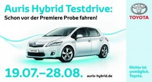 Toyota Auris Hybrid Kundentestfahrten