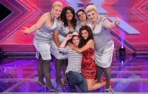 Big Soul, Mati Gavriel und Edita Abdieski stehen im X-Factor-Halbfinale am 02. November 2010 (c) Foto: VOX/Ralf Jürgens