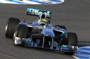Formel 1-Testfahrten von MERCEDES GP PETRONAS in Jerez, Spanien - 10.-13. Februar 2011 - Nico Rosberg