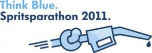 Logo Think Blue. Spritparathon 2011