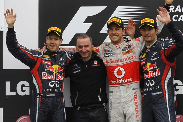 Siegerehrung Kanada GP Formel 1 2011 (c) Andrew Ferraro/LAT Photographic