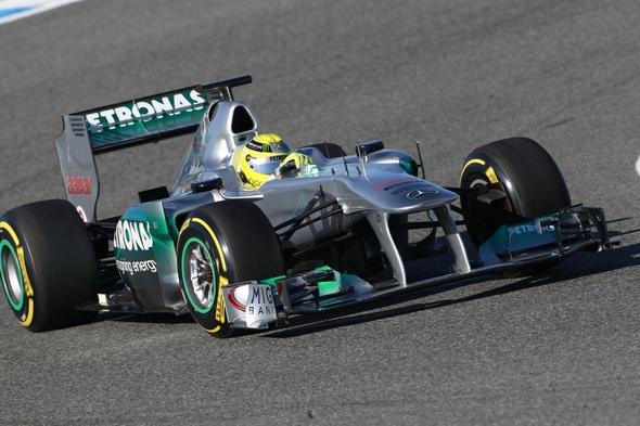 Nico Rosberg Mercedes AMG Petronas Formel 1 Tests in Jerez 2012 (c) HOCH ZWEI/Ronco