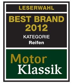 Michelin Best Brand der Reifen Motor Klassik Award 2012