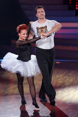 DSDS 2012 Lars Riedel und seine Tanzpartnerin Marta Arndt  RTL / Stefan Gregorowius