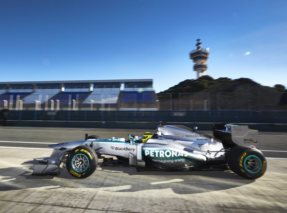 Formel 1 2013 Der neue Mercedes AMG Petronas Bolide W04 © Mercedes-Benz