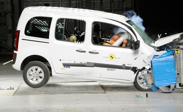 Mercedes Citan fällt beim Crashtest durch © ADAC