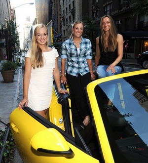 Sabine Lisicki, Angelique Kerber, Mona Barthel vom Porsche Team Deutschland in New York US OPEN 2013 © Porsche AG