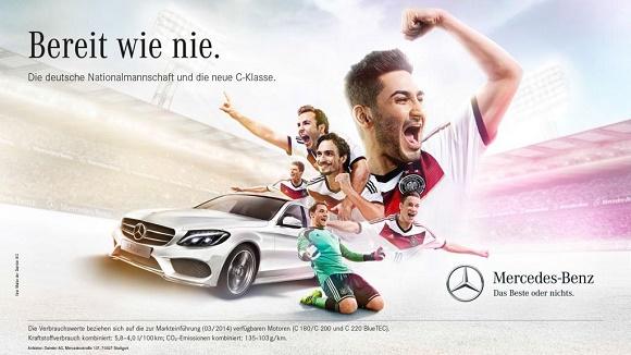 Bereit wie nie WM-Kampagne 2014 von Mercedes-Benz und dem DFB © Mercedes-Benz