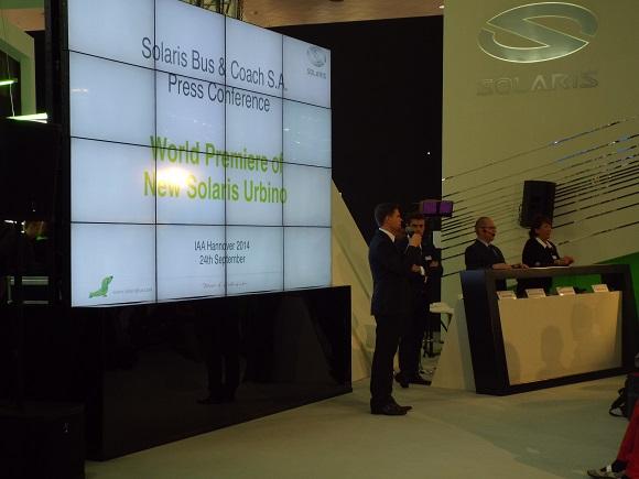 IAA Nutzfahrzeuge 2014 Pressekonferenz zur Weltpremiere des New Solaris Urbino © Christel Weiher