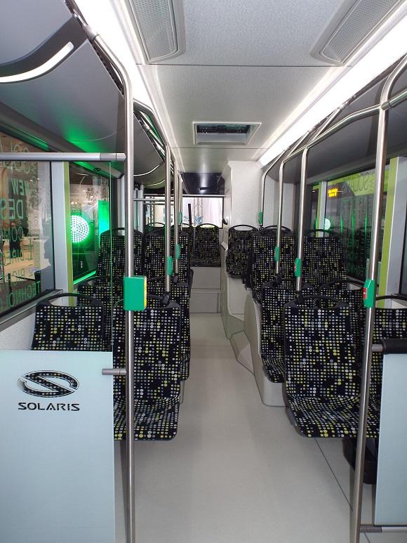 IAA Nutzfahrzeuge 2014 Weltpremiere des New Solaris Urbino 12 Innenansicht © Christel Weiher