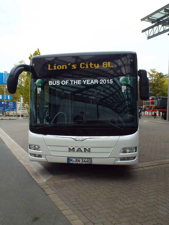 MAN Lion´s City GL CNG ist Bus of the Year 2015 © Christel Weiher