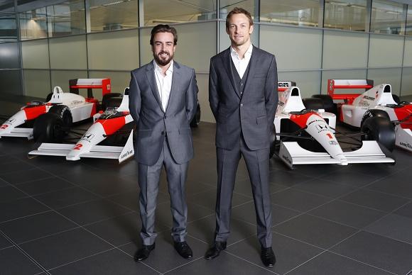 McLaren-Honda Fahrerpaarung Formel 1 2015 Fernando Alonso und Jenson Button © McLaren-Honda