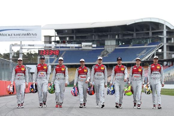 Audi Motorsport DTM 2016 Timo Scheider, Mattias Ekström, Mike Rockenfeller, Miguel Molina, Edoardo Mortara, Adrien Tambay, Jamie Green, Nico Müller © Audi