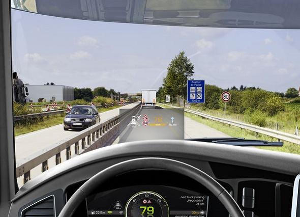 IAA Nutzfahrzeuge 2016 Continental stellt Head-up-Displays für den Einsatz in Lkw und Bussen vor © Continental