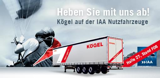Kögel auf der IAA Nutzfahrzeuge 2016 in Hannover vom 22. bis 29. September 2016